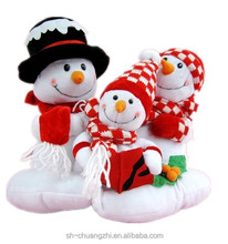 Christmas snowman family plush toys