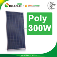 Bluesun top quality best sale 300w polycrystalline solar panel module made in China