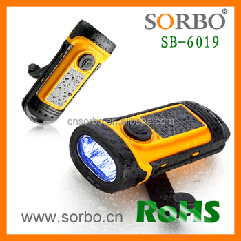 SORBO LED Flashlight Torch Hand Cranking Rechargeable Flashlight