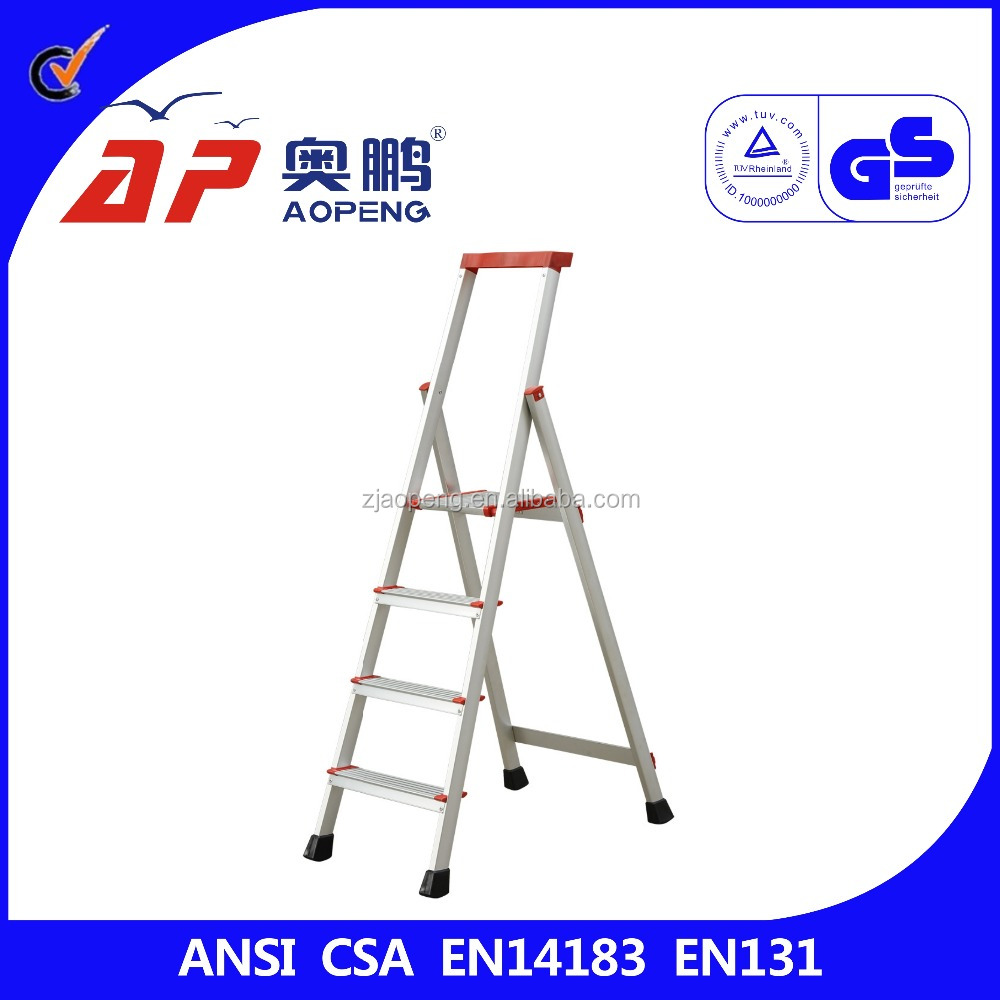 Strengthen the new stainless steel home folding ladder stairs 4 step stool AP-2354A