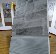 Al-zinc embossed composite exterior decorative pu sandwich stone wall panel