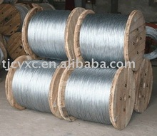 Electronic or hot dipped Galvanized steel wire strands for optical fiber cable