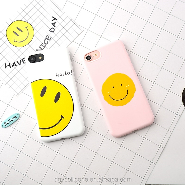 Promotional Gift 3D Cartoon Smile Face Soft Silicon Phone Case For iphone 7/7plus