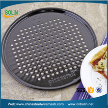 Factory price round stainless steel mesh screen 13 16 inch perforated baking tray/plate for pizza pan