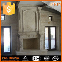 Chinese hot sale stone marble fireplace supplier chiminea outdoor fireplace