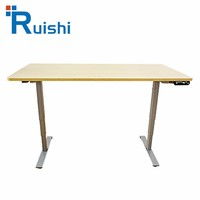 White Adjustable Electric Height Adjustable Designer Office Table