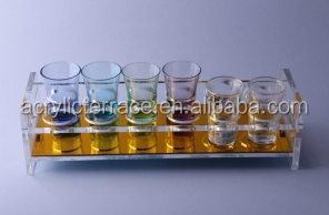 acrylic shot glass tray