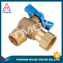gas angle type union ball valve three way flow water cylinder brass cw617n full port manual power check for water control valve