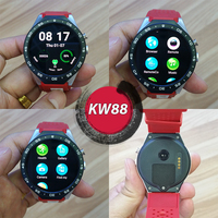 2017 3G Camera AMOLED Screen Smart Watch KW88 With Android 5.1 Smart Watch Phone Bluetooth 4.0 Wifi Heart Rate Monitor