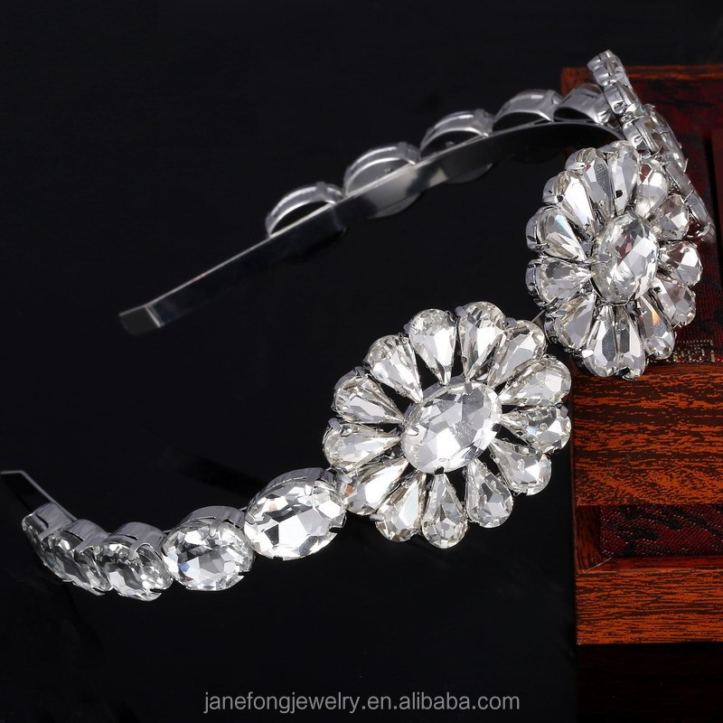 Latest Broad Crystal Stone Hair Band Rhinestone Crystal <strong>Headband</strong>