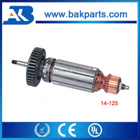 Angle grinder electric power tool spare parts GWS14-125 armature rotor induzido