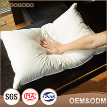 Hot Sale Luxury Eco-Friendly Custom-Made 100% Cotton Cover Goose Down Head Feather Pillow