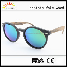 2017 new arrival fashion customized high quality acetate wooden sunglasses