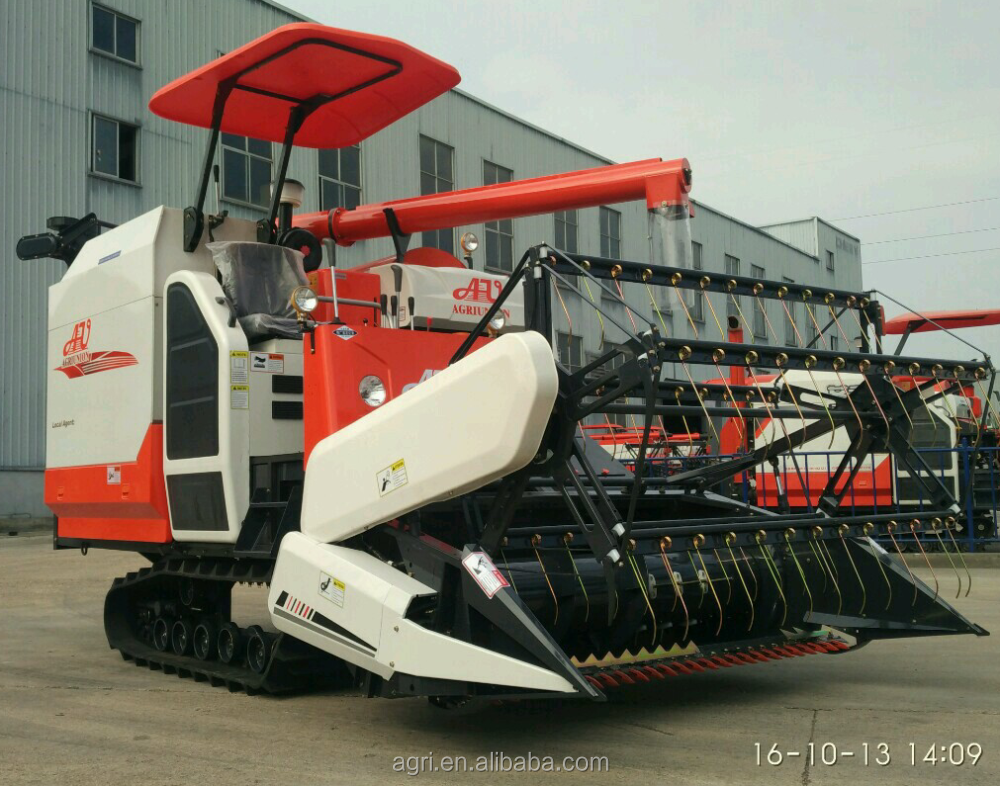 2016 New Model Rice Wheat Combine Harvester