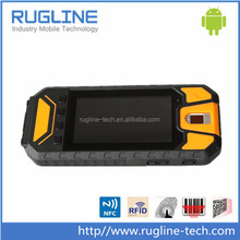 Rugged 5 inch android mobile phone with fingerprint reader and barcode scanner