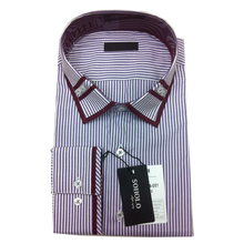 men's classical plaids button downs collar long sleeve shirts with custom logo