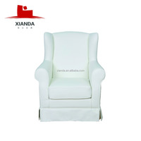 King queen and wing back leather arm chair