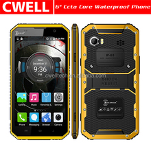 W9 MTK6753 eight core Android 5.1 IP68 Waterproof Rugged Design most slim 6 inch mobile phone Support 4G
