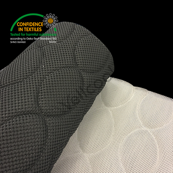 China Supplier of Breathable Material 3D Mesh Fabric, Gray