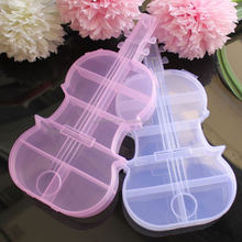 2.5*11*22CM Guitar Shape Plastic Jewelry Storage Organizer Jewelry Storage Containers Great For Beads, Jewelery, Finding DIY