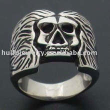 stainless steel fashion engrave skull ring