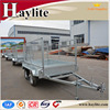 manufacturer double axles box trailers with mesh cage