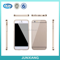 New product For Apple iPhone 6 Aluminum Bumper Metal Case with hard PC back cover