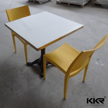 Seamless joint chess table and chairs, solid surface table and chairs