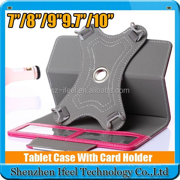 10 inch universal tablet leather cover case with Triangle stand function