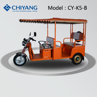 High quality 3 wheels e tricycle electric riskshaw for passenger