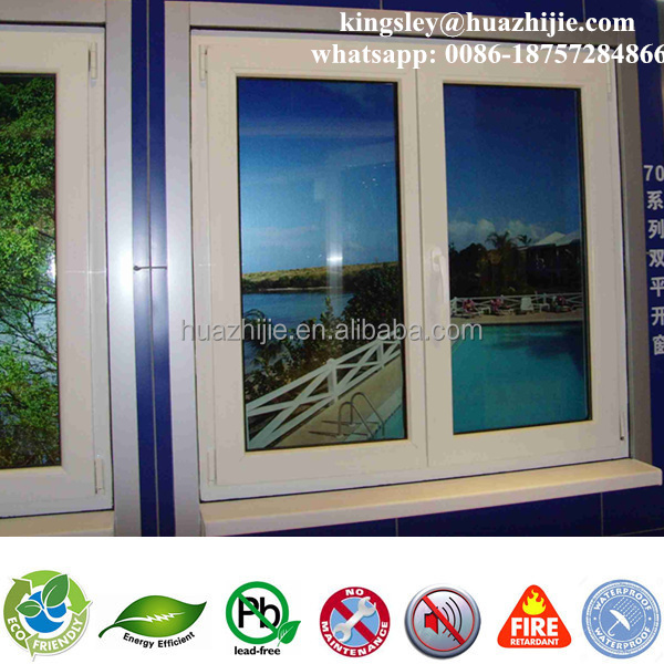 Strong impact hurricane resistant Plastic / upvc / vinyl pvc windows doors