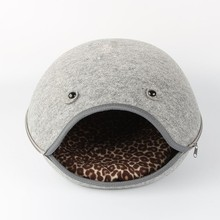 cute lovely Wool felt cat house/bed