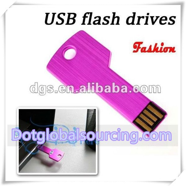 Fashion design key shaped Mental flash drive