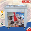 Wholesale electric snack machine thailand style roll fry ice cream machine with 6 Toppings tanks