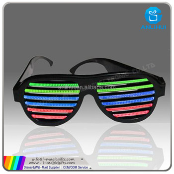 Party Led shutter glow cold light glasses light up shades
