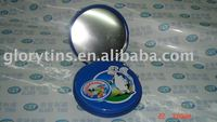 OEM round CD tin container for packaging
