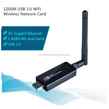 2.4G/5.8G dual band 1200M USB 3.0 WiFi Wireless Network Card 802.11 ac/b/g/n LAN Adapter with rotatable Antenna