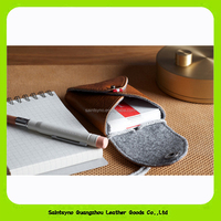 Leather card holder wallet case cover hold 20 cards with snap strap 15318