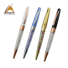Hot Sale Beautiful Gifts Fashion Colorful Bling Diamond Metal Crystal Ballpoint Pen for woman