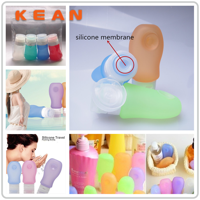 Travel Size Liquid Container/Eco-friendly Squeeze Airline Carry-on Silicone Hotel Soap Bottle Travel Size Liquid Container
