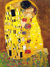 Old Skilled Artist Hand Painted Top Quality Reproduction Painting Famous The Kiss Oil Painting by Gustave Klimt