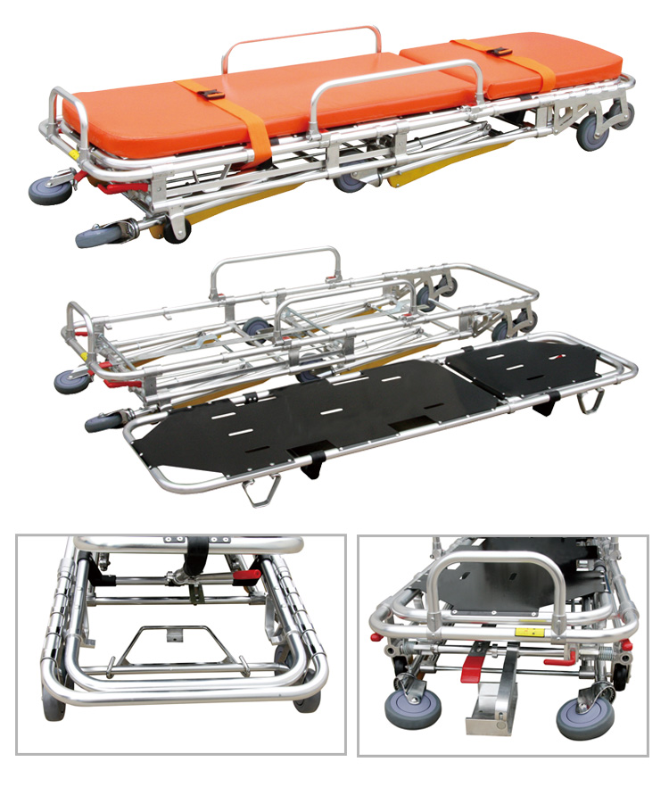 Patient Transport Stretcher ambulance stretchers emergency trolley equipment function