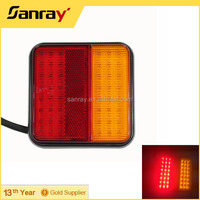 Rectangle LED car truck Rear Trailer Tail Indicator Lamp Light with E-mark