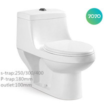 Chaozhou Washdown One Piece S-trap p-strap WC toilet sanitary T939