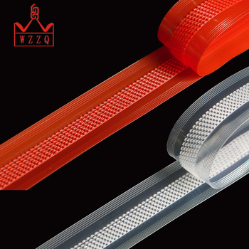 High quality closed end double slider pe press lok zipper