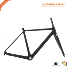 2017 China Carbon Cyclocross Disc Flat Mount Road Bike Frame Di2 Bicycle Frame