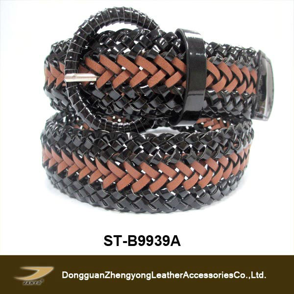 PU braided belts weaving loom belts(ST-B9939A)