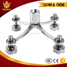 4 arm glass curtain wall fittings 4-way arm Spider Clamp Polishing Stainless Steel Four Head Glass Wall Spider