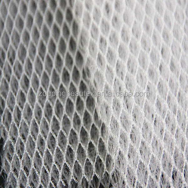 Supply hot sale 100%polyester breathable 3d air motorcycle seat cover material