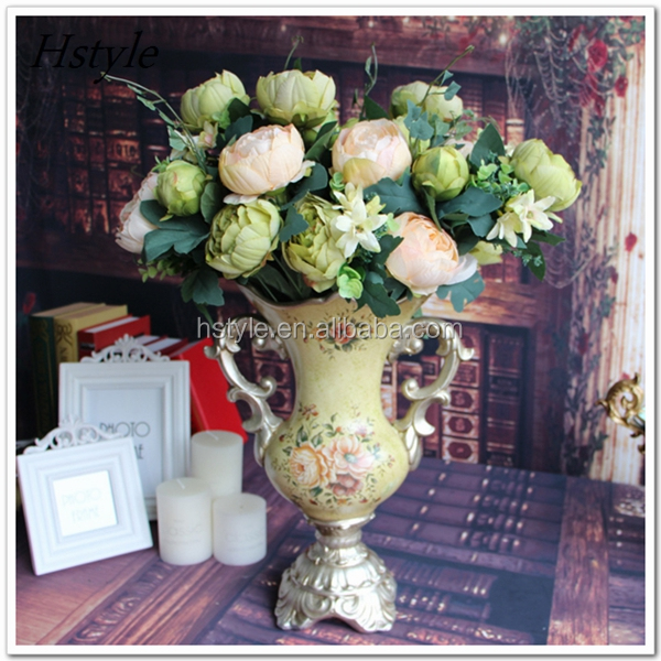 Luxury Palace Style 48 Heads/Bouquet Silk Rose Artificial Decoration Flower Wedding Hotel Home Table Decor FZH035